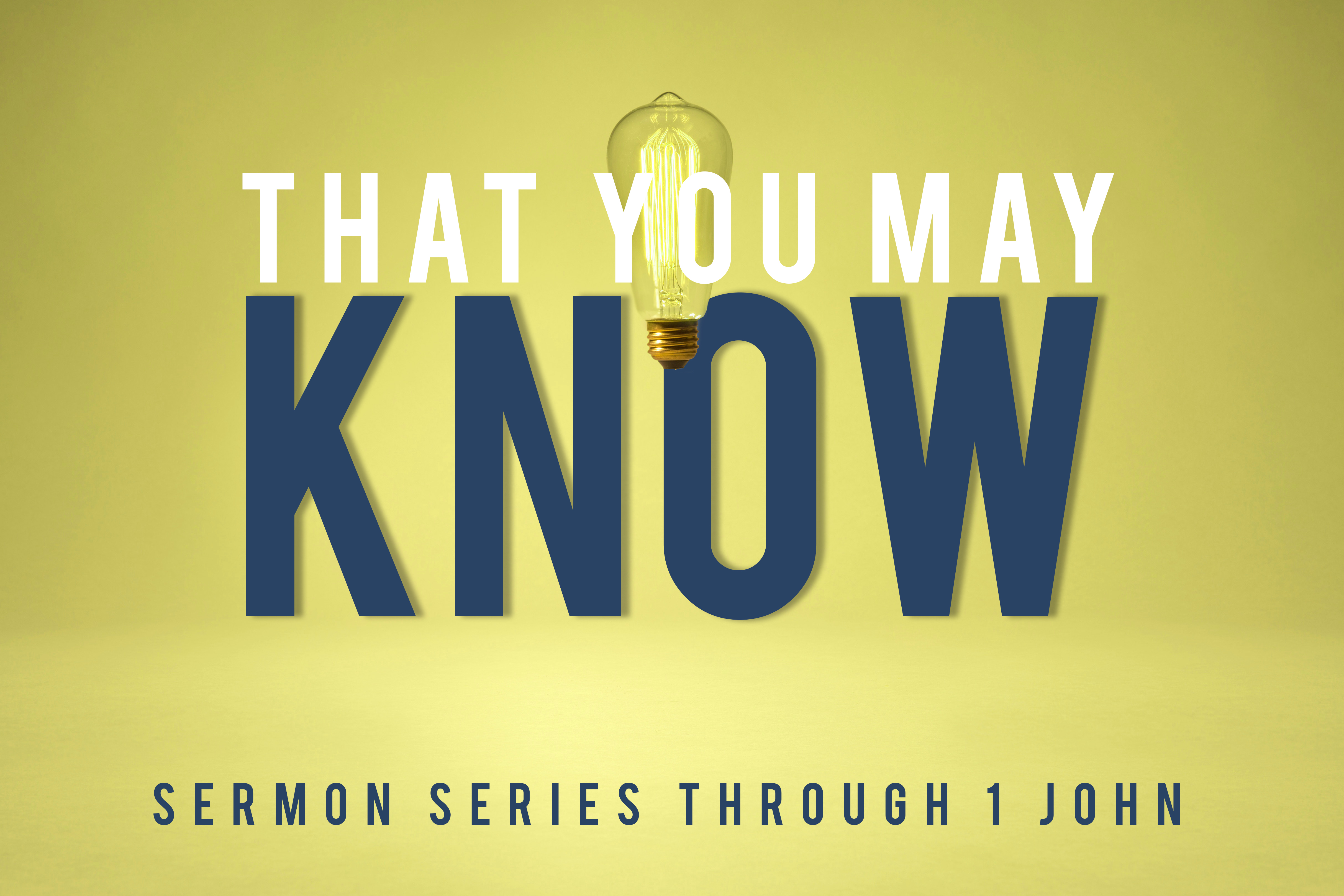 That You May Know: What To Do With Sin